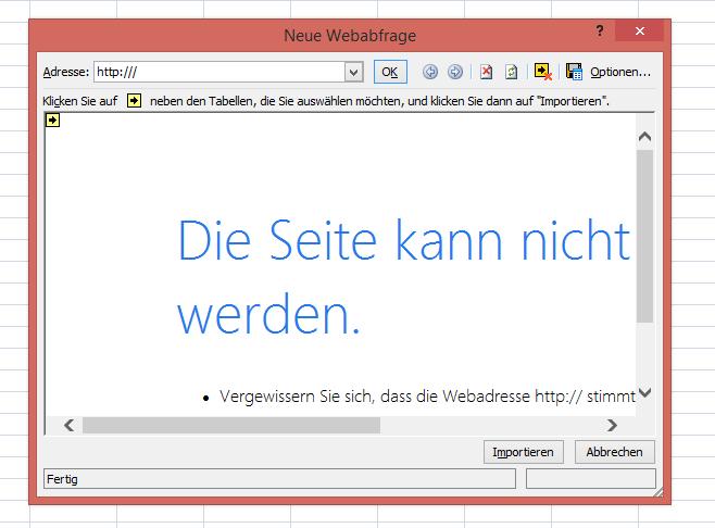 Internet Explorer 11 nach exel exportieren - Schritt 2