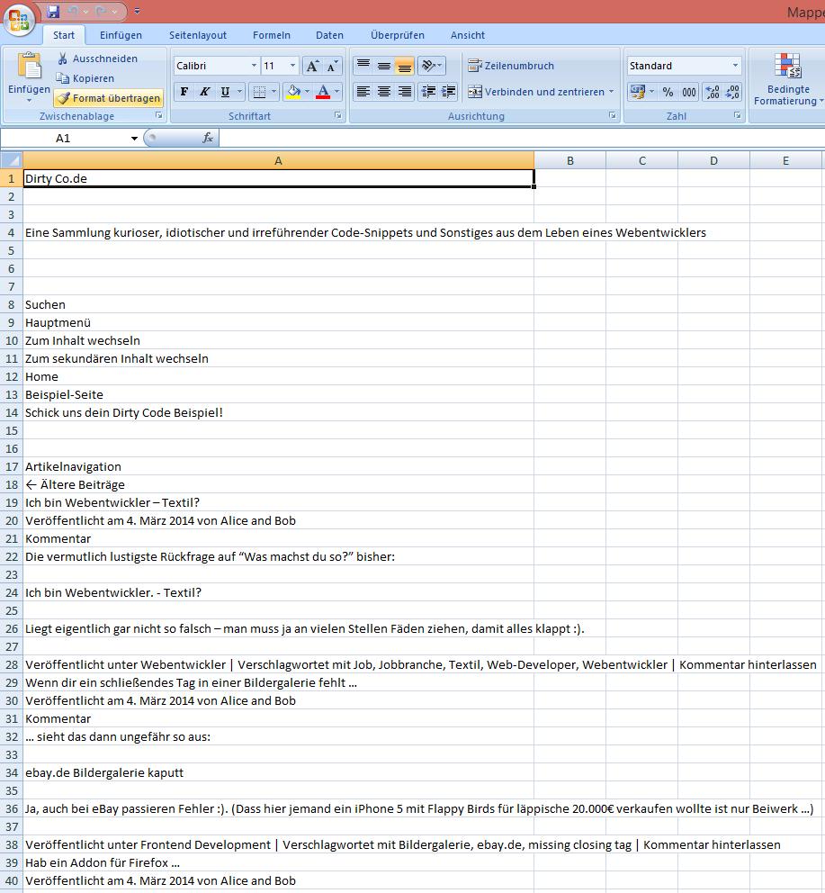 Internet Explorer 11 nach exel exportieren - Schritt 5
