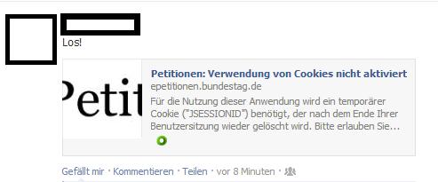 Epetition: Verwendung von Cookies nicht aktiviert