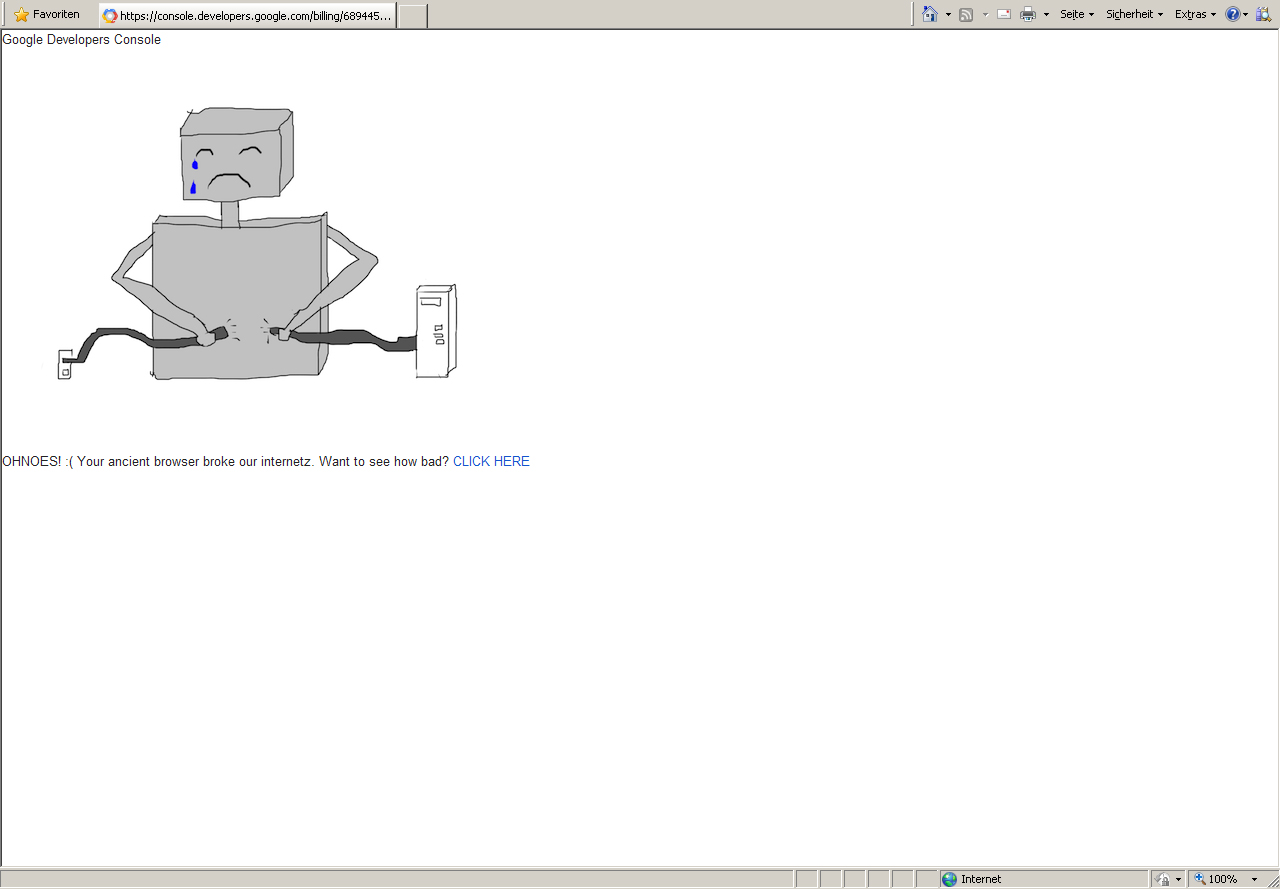 IE8 broke internetz of Google! :)