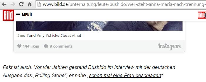 """bild.de - Instagram-Post von Anna-Marias Bruder mit """"passenden"""" Hashtags?"""