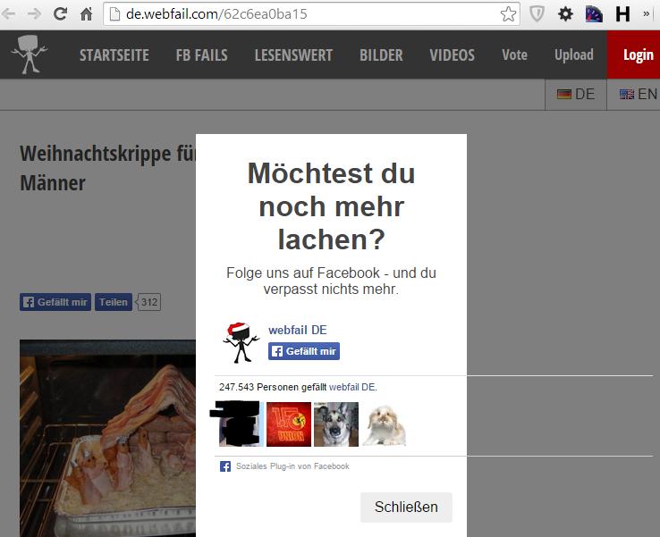 de.webfail.at Facebook-Like - Overlay (passt auch nicht ganz in der Breite ;) )
