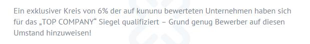 kununu.com Angeblich nur 6% TOP-Company - Unternehmen