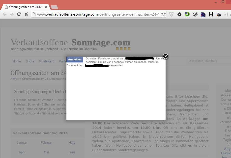 verkaufsoffene-sonntage.com - Facebook-Like - Overlay sieht bescheiden aus