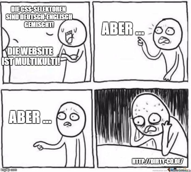 Deutsch-Englisch gemischte CSS-Selektoren?